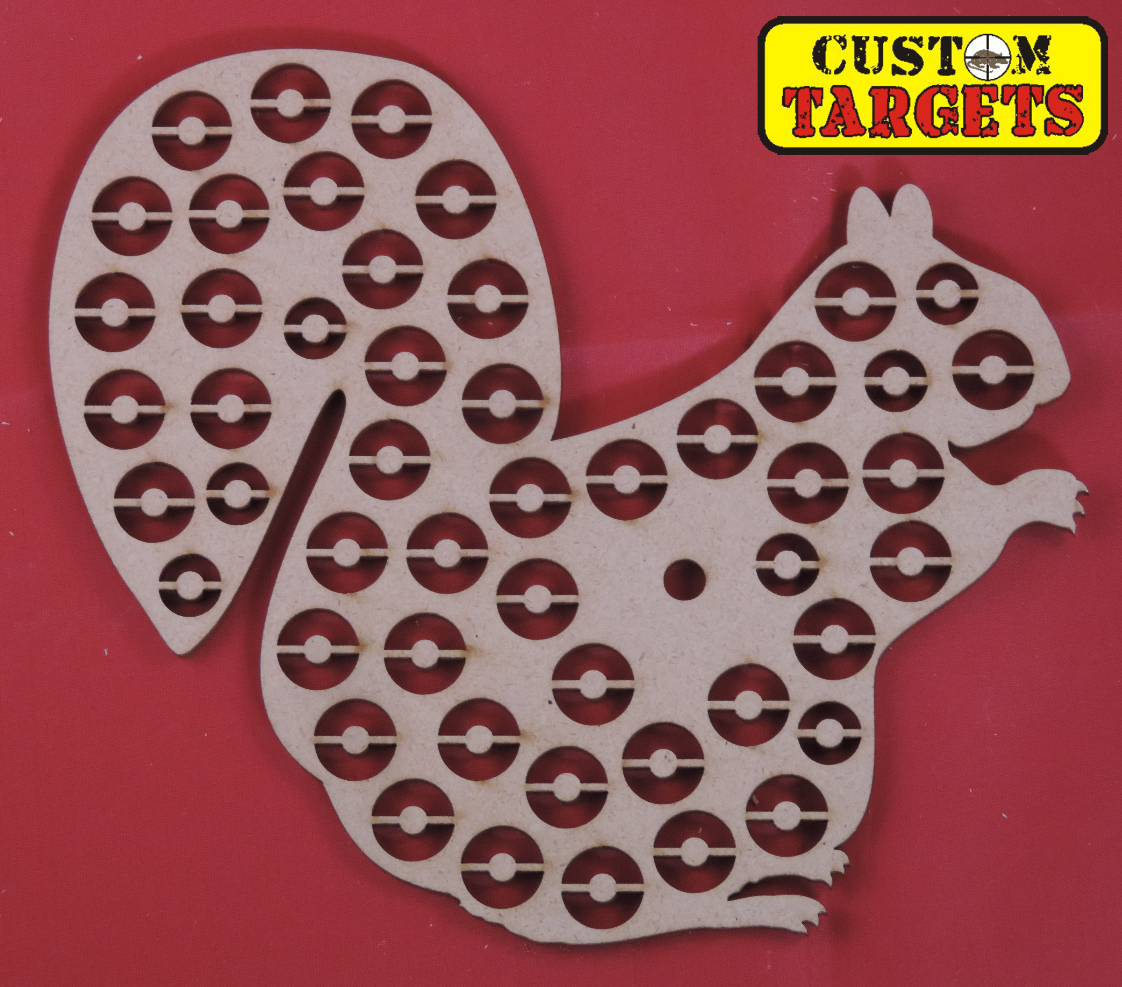 Custom Targets - Squirrel Shoot Out Airgun Target - 50 zones